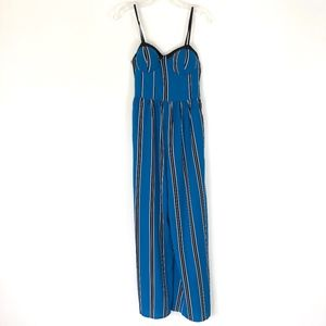 Band of Gypsies | Blue Stripe Jumpsuit Romper
